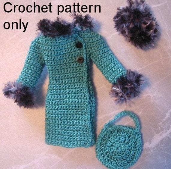 Crochet Pattern Pdf For Silkstone Barbie Doll 1960s Winter