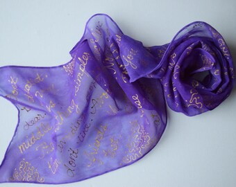 TV quotes scarf, Countess Violet quotes silk scarf