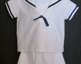 Toddler boys sailor suit with shorts
