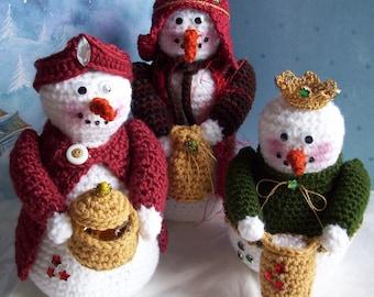 Wisemen Snowmen...PDF Crochet Pattern