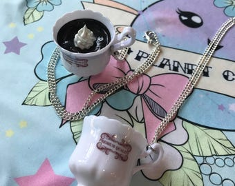 Big Cup o Coffee Charm Necklace