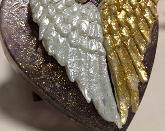 Sparkly angel wings soap