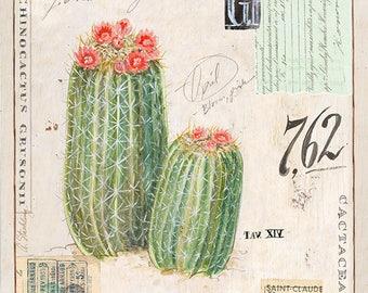 Barrel Cactus Print, Cactus Illustration, Cactus Art, Cactus Decor, Cactus Wall Art, Barrel Cactus