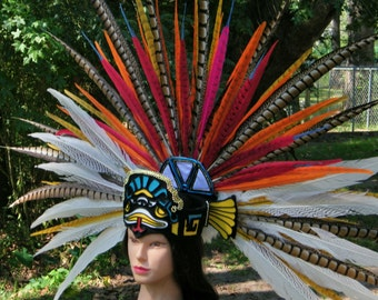 Female Aztec Pheasant Feather Headdress