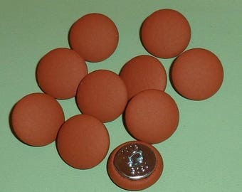 Leather Upholstery Buttons x 10 Terracotta Mid Tan 19mm (30L)