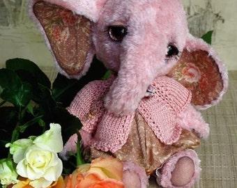 Artist elephant emailed PDF PATTERN, how to make elephant, stuffed toy elephant diy, make your own cute baby elephant, tatiana scalozub