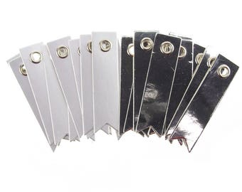 Platinum Paper Pennant Tags, 2-Inch, 20-Count