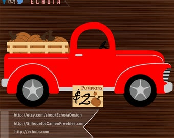 Red Pumpkin Truck - SVG, PNG and DXF Files