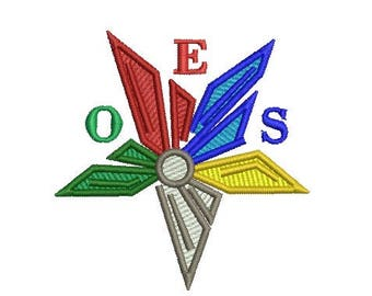 OES star embroidery design