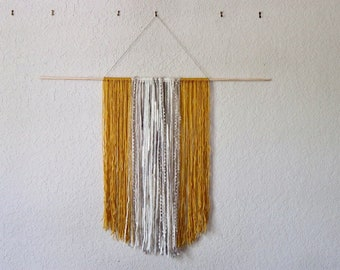 Yellow and Cream Wall Hanging