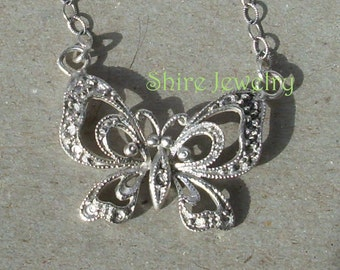 Medium Decorative Butterfly Necklace