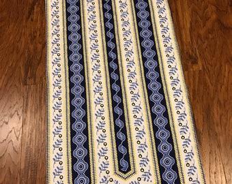 """Table Runner, 15.5"""" x 41"""", Blue and Yellow table runner"""