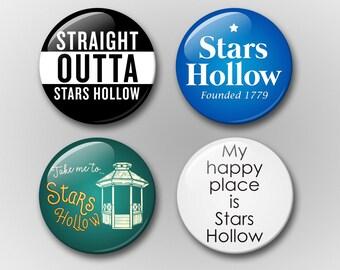 Gilmore Girls Magnet Set - Stars Hollow Magnet Set - TV Show Magnets - Refrigerator Magnets - Pop Culture Magnets