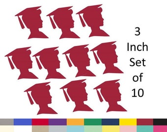 Boy Graduation Jumbo Confetti Party Table Decoration DIY Graduation Party Supply 3 inch Set of 10 Die Cuts Choose From 20 Colors