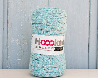 Hoooked Ribbon XL Yarn, Multi Color, Recycled Cotton Yarn, Knitting, Crochet, Blue