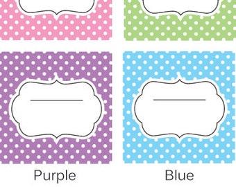 Printable - Retro Dot Set - Soap - Multi Purpose Labels – Instant Download