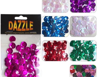 Dazzle Cupped Sequins 12mm - 120pcs