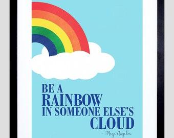 Maya Angelou / Be A Rainbow / Motivational  / Framed Art / Print - F12X10788