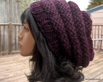 Beehive Womens Knit Hat Slouchy Hat Beehive Hat Knit Beehive Womens Chunky Slouchy Women Slouchy Tam Knit Beehive