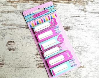 "Sticky bookmarks set ""tassels"""