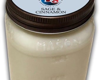 Sage and Cinnamon Soy Candle