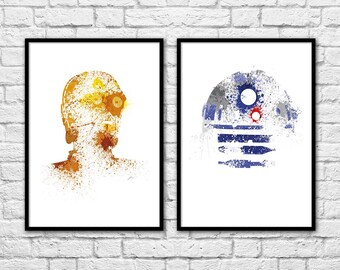 2 Art-Posters 30 x 40 cm - Star Wars C3PO and R2D2