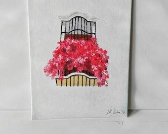 Oil on canvas. Sevillian balcony. Sevillian balcony. Oil on canvas.