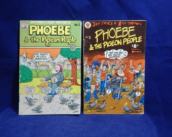 1979 & 1980 Phoebe and the Pigeon People Issues #1 and #2 Lynch and Whitney Digest Size Underground Comics (Kitchen Sink) - Selling as a Set