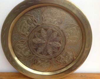 Middle eastern brass tray or table top