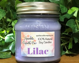 LILAC Candle | Scented Soy Candle | Homemade Soy Candle | Floral Candle | Hand Poured Candle | Spring Candle | Lilac Scented | Purple Candle