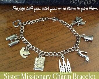 LDS Sister Missionary Charm Bracelet