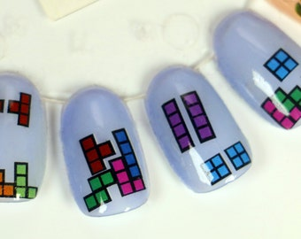 Nail Decals: Tetris Water Nail Decals Summer Sales!!