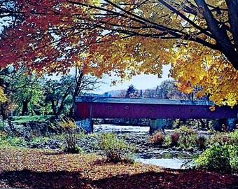 HOUSATONIC RIVER BRIDGE - West Cornwall, Connecticut