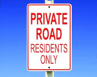 "Residents Aluminum 8"" x 12"" Sign"