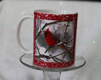 Red Cardinal Mug-Merry and Bright