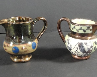 English Luster Ware Creamers-1850's
