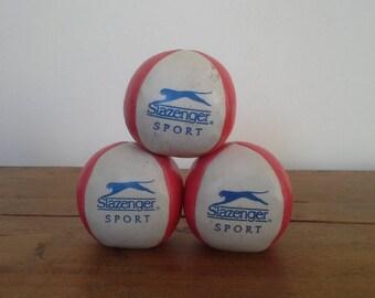 Vintage Set of 3 Slazenger Juggling Balls