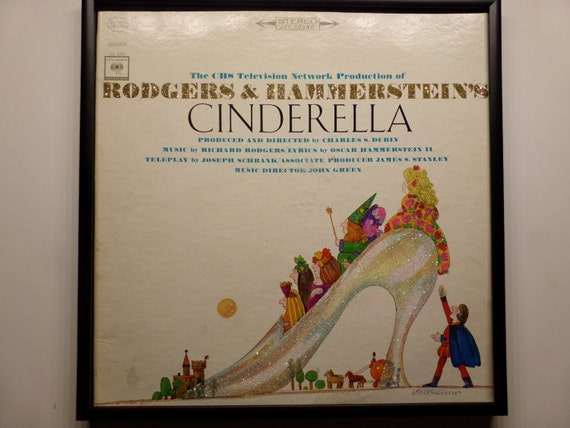 Glittered Record Album - Cinderella - Rodgers and Hammerstein's