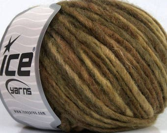 WOOL WINTER SALE ICE KHAKI AND BROWN 50G FINGERING 6 / / 49