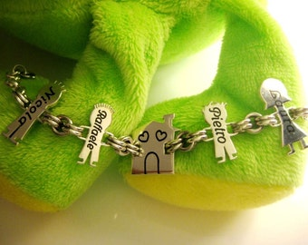 925 silver bracelet with your family