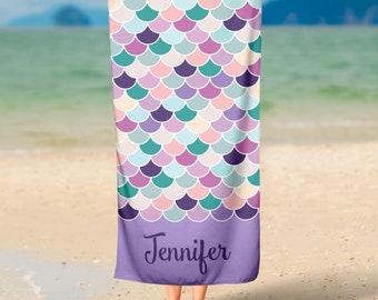 Mermaid Beach Towel, Custom Beach Towel, Personalized Towel, Mermaid Towel, Custom Mermaid Towel, Personalized Mermaid Towel, Custom Towel