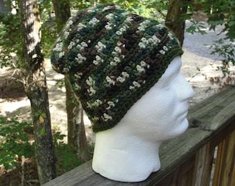 Adult crochet hats, Camo hat, Teen beanie, Camo beanie, Crochet camo hat, Fathers day gift,crochet beanies for men