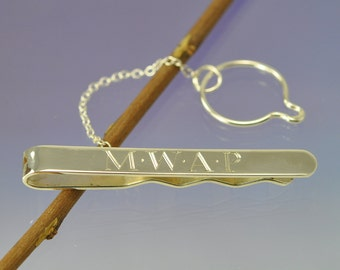 Personalised Sterling Silver Tie Slide