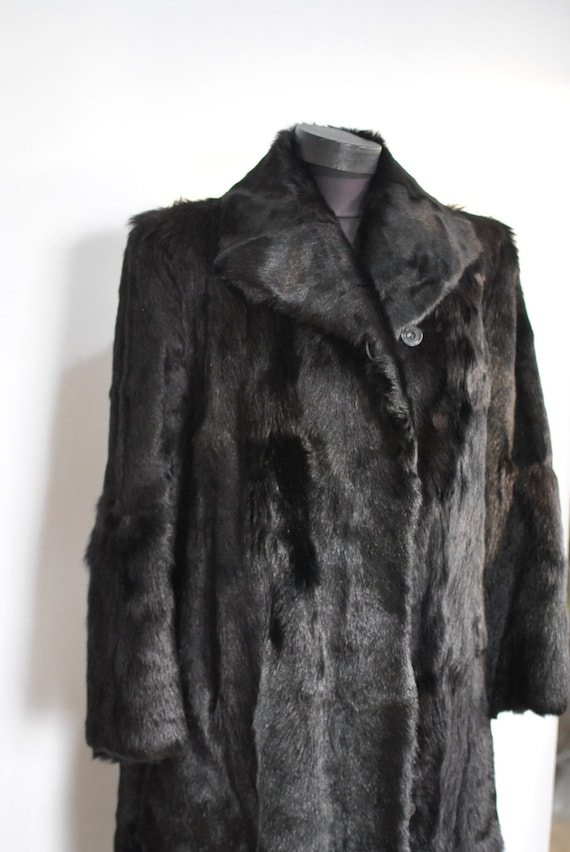 length fur Vintage 314 HIDE COW long coat g6gCtx