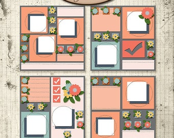 Digital Scrapbooking, Layout Templates: Squared Up