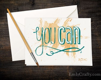 You Can! Buy a card, feed a baby. Size A6 - various quantities available - includes envelopes.