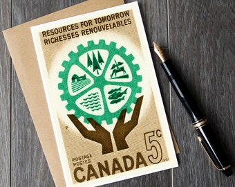 canada retirement cards, canadian birthday cards, canada greeting cards, vintage greeting cards, vintage postage stamps, stamp art cards