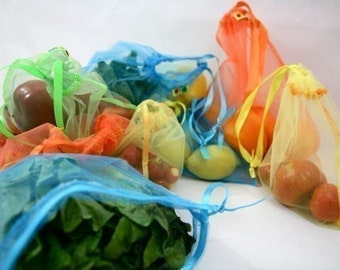 Tropical Sunset Full set Reusable Produce bags Eco friendly
