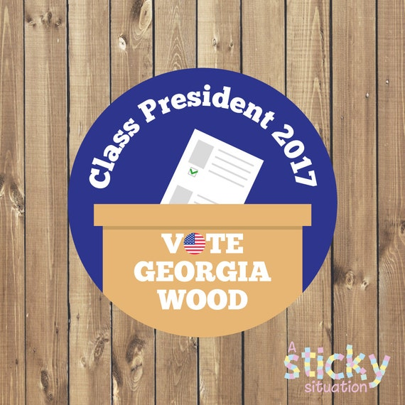 Personalized Election Stickers, Vote Stickers, Campaign Stickers, Politics,  Election Campaign Stickers, Class President, School Stickers from ...