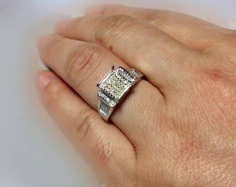 BIG Sale 10k solid White Gold Ladies Diamond Wedding rings - Promise rings - Engagement rings - Friendship rings